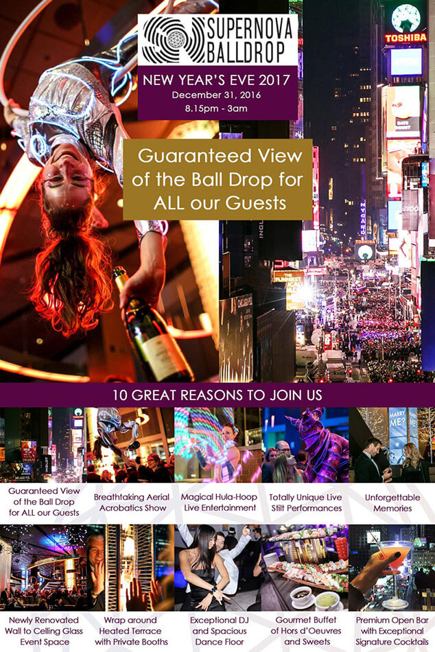 Watch Ball Drop in Times Square with direct view of the Ball Drop