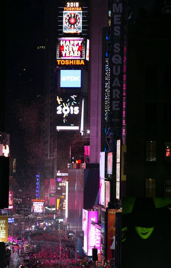 Supernova Ball Drop with direct view of the Ball Drop for all our guests